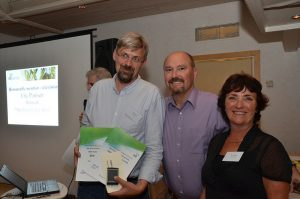 From left to right - Erik Poulsen, Denmark, winner category Online Video and honorable mention category Television, President Mike Wilson, Executive Secretary Connie Siemes. Picture taken by Chuck Zimmerman